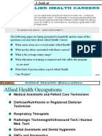 Allied Health and Diagnostic