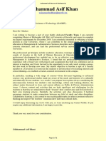 Muhammad Asif Khan-Cover Letter-Faculty