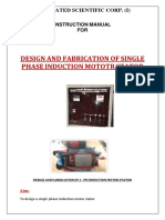 Design & Fabrication of 1-Ph Induction Motor Starter MANUAL