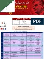 Faiz Festival Schedule (1st Nov)