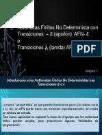 5 Unidad 1_ Autómatas Finitos Con Transiciones épsilon 2019-2.pptx