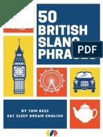 50 British Slang Phrases