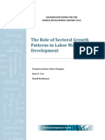The role of sectoral growth patterns