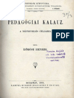 Kőrösi Henrik - Pedagogiai Kalauz. A népnevelés céljaira.