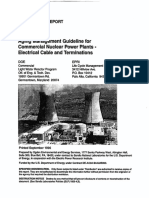 Aging Management Guideline for Cable and Terminations