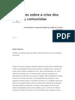 Reflexões Sobre a Crise Dos Regimes Comunistas