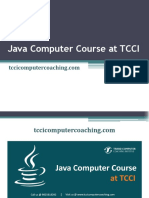 Java Computer Course at TCCI
