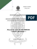 CHM 302 Manuel de Cours Et Syllabus