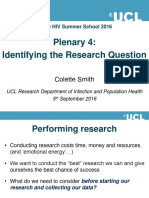 2016hivss Csmith Identifying the Research Question
