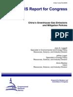 China's Greenhouse Gas Emissions