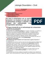 Méthodologie Dissertation – Droit