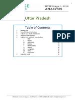 Know the Detailed Analysis of Uttar Pradesh NTSE stage I