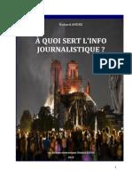 À QUOI SERT L'INFO JOURNALISTIQUE