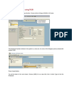 Create an Employee Using PA30