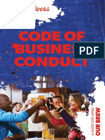 Code of Business Conduct a Guide for Living Our Brew