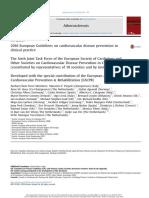 2016 Guía Europea de Prevención de La Enfermedad Cardiovascular en La Práctica