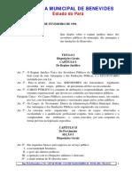 Lei orgânica CÂMARA MUNICIPAL DE BENEVIDES Estado do Pará
