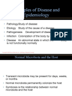 PRINCIPLES OF DISEASES AND EPIDEMIOLOGY