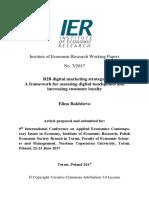 Working Paper on B2B Digital Marketing Strategy