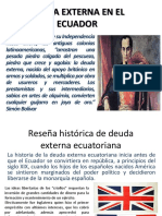 Deuda Externa en El Ecuador