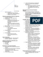 Curriculum Evaluation Hand Out