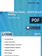 Coupa Kickoff Meeting Template