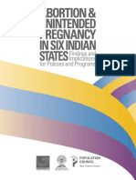 Abortion Pregnancy in six Indian states