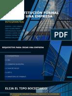 Constitución Formal de Una Empresa