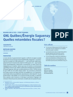 GNL Québec Énergie Saguenay-Quelles Retombées Fiscales