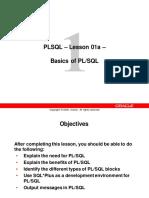Lesson 01a - Basics of PLSQL