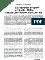 Murry, Heide_Managing promotion program participation within manufacturer-retailer-relationships