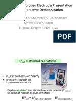 Standard Hydrogen Electrode Presentation
