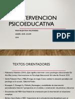 Intervención en psicología educacional