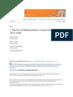 1. the Era of Metternichian Conservatism 1815-1848