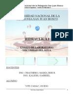Informe laboratorio Hidraulica