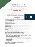 WBS Application Guide for International MBA Program Sep2016
