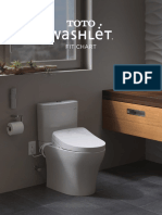 Washlet fit chart