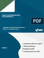 BID AECID Cooperación Financiera