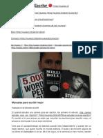 Manuales para escribir mejor _ Dan Guajars, Escritor ?