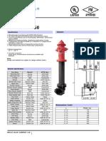 Hidrante Seco Mod F0733