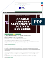5 Best Ad Networks for Small Publishers (2020)Adsense Alternatives