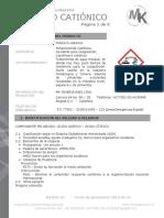 Fds Mtk 366 Polímero Catiónico
