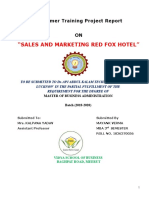 Sales and Marketing Hotel Industry Red Fox Hotel East.doc