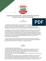 Proposta di legge-reddito sociale - Sinistra Ecologia Libertà