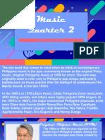 PHILIPPINE POPULAR MUSIC