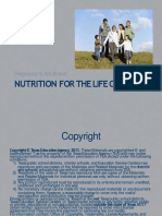 Nutrition for the Life Cycle Ppt Converted