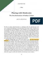 Arjun Appadurai, Playing With Modernity