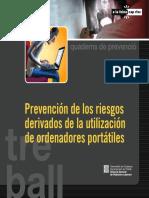 Prevención de los riesgos derivados del uso de ordenadores portátiles