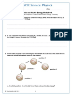 Potential and Kinetic Energy Worksheet-1452167475