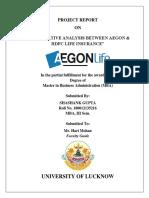 Comparative betweenAegon & hdfc.docx